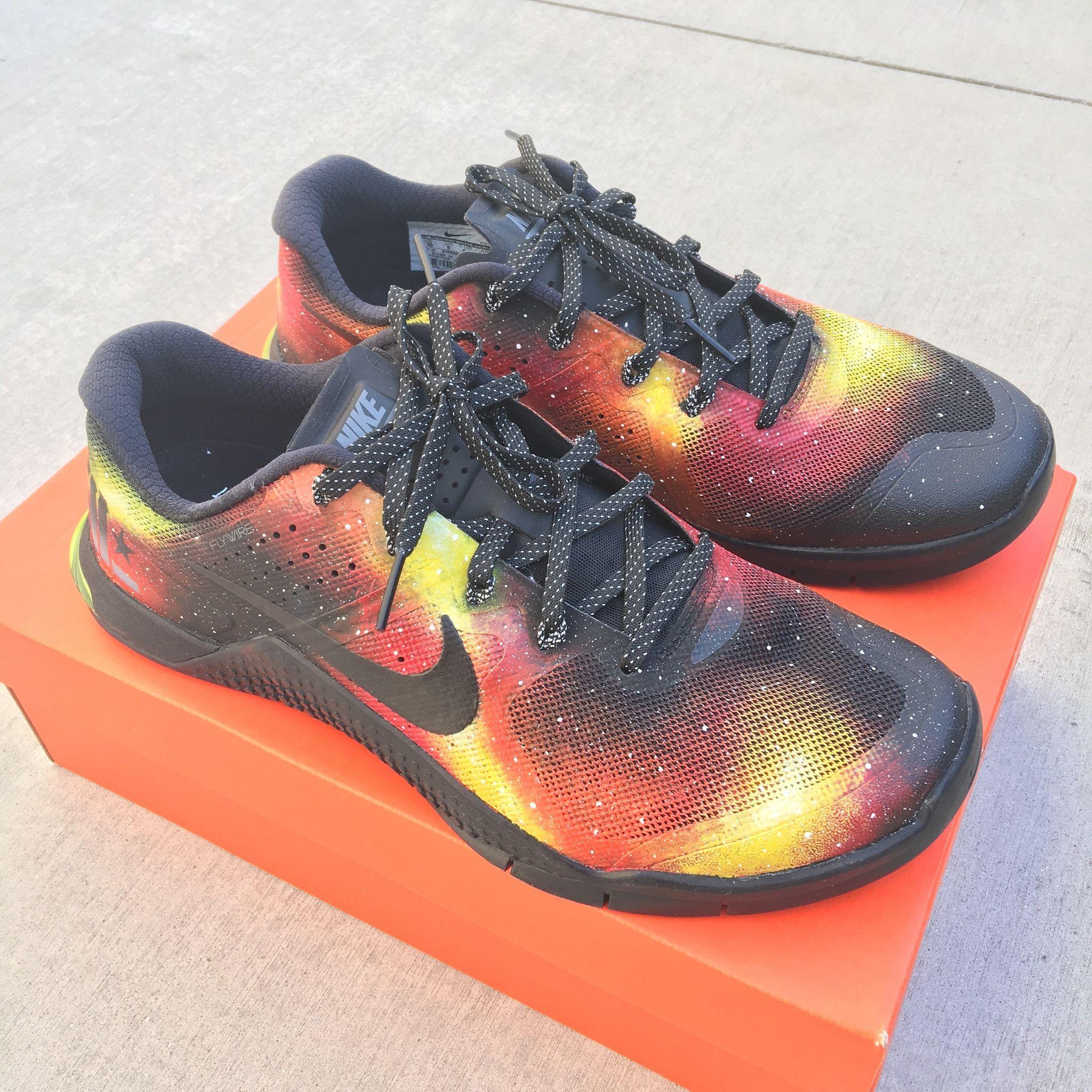 Custom 'Solar Flare' Galaxy Nike MetCon 2 - Hand Painted