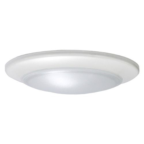 6 Inch Led Low Profile White Flush Mount Light 2700k 1000lm Led