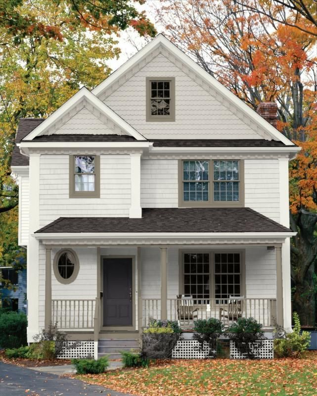 Image result for soft white house warm beige for trim and - White exterior paint color schemes ...