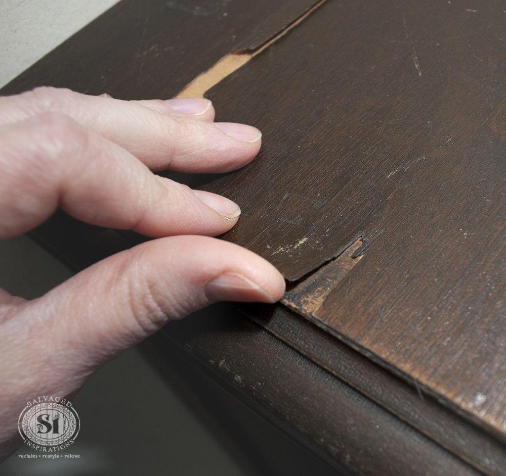 How To ~ Fix Peeling or Chipped Veneer | Furniture Repair ...