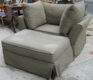 Big Chairs And Ottomans | Big Soft Chair And Ottoman   SOLD