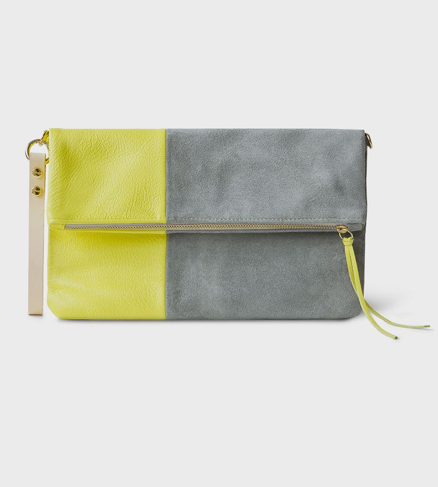 Chloe Leather & Suede Foldover Clutch   Brighten up even the chilliest of days this lovely foldover cl...   Clutches & Special Occasion Bags