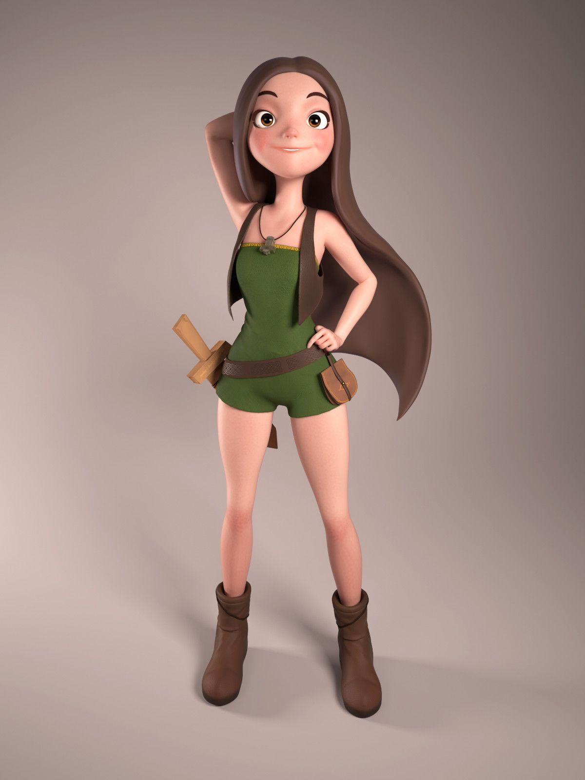 Девушки героев мультфильм