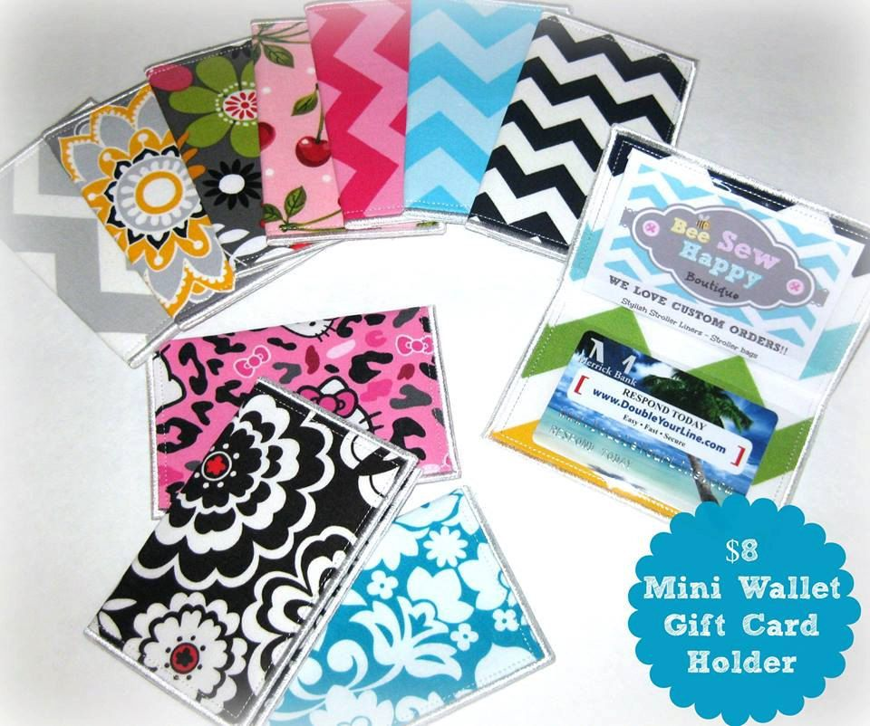 Business Card Holder Custom Fabric | gift card holder | Mini Wallet ...