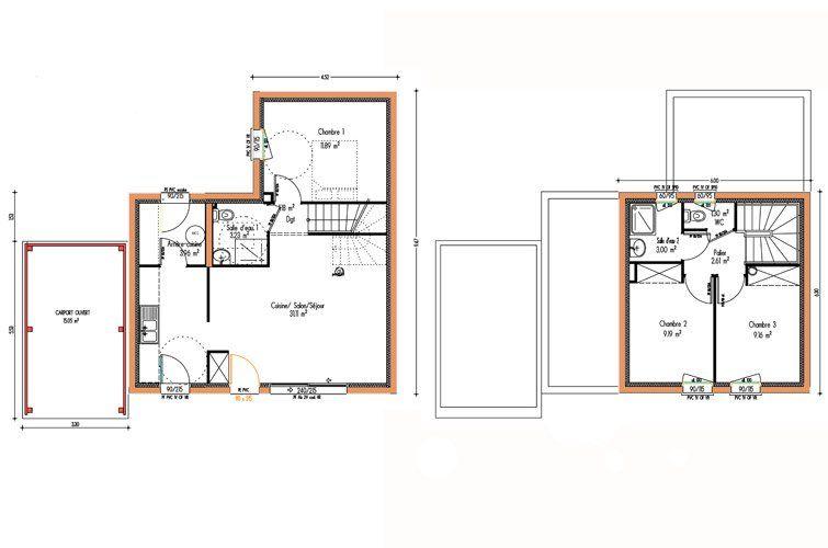 Plan du0027une maison traditionnelle Breva, #maison #planmaison