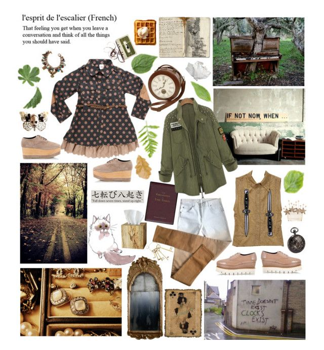 """Time travelers"" by momoheart ❤ liked on Polyvore featuring Selamat Designs, Maison Margiela, Black Pearl, Paloma Barceló, Jennifer Behr and philosophy"