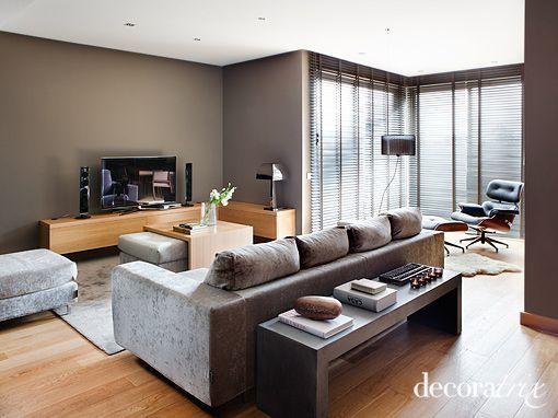salon pintado en gris  Decoracin  Pinterest