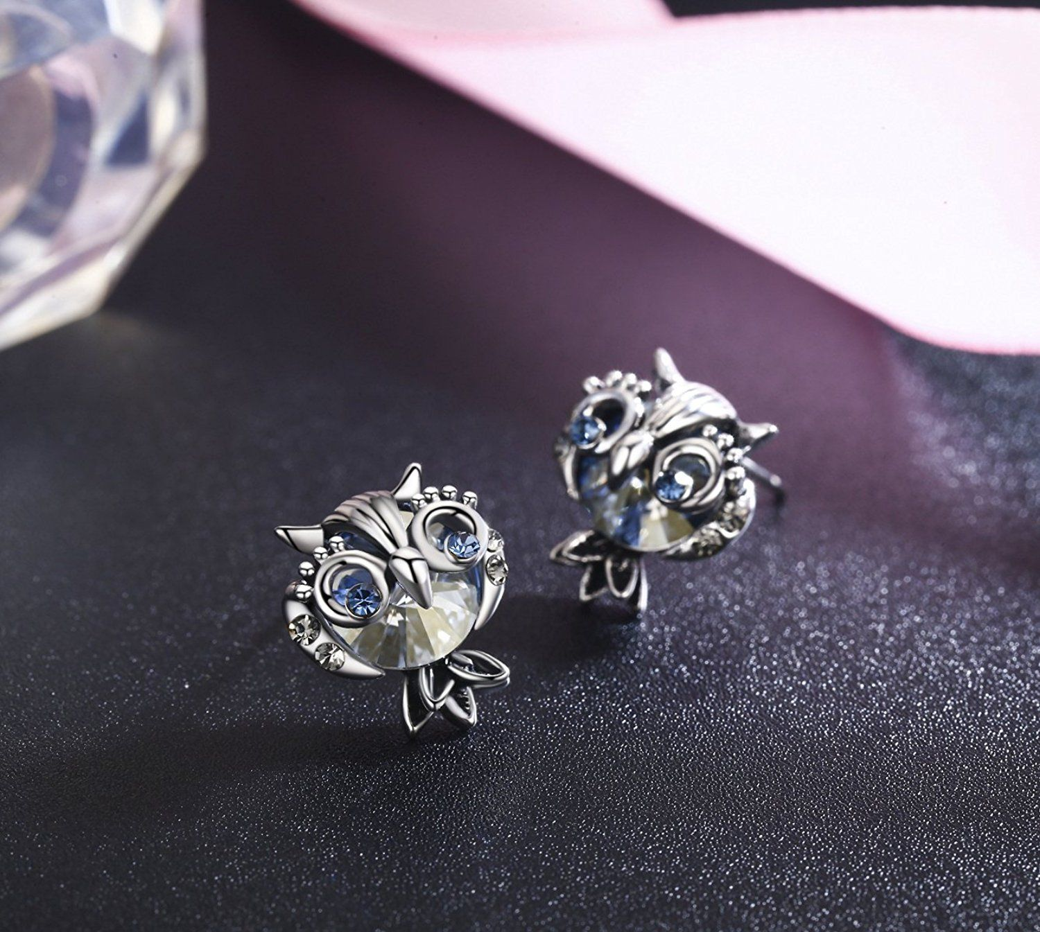 a5a259842 SBLING Blue Owl Stud Earrings Made with Swarovski Crystals (2.5 cttw) **  You can find more details by visiting the image link. (This is an affiliate  link) # ...