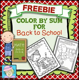 Teacher Tam's Educational Adventures: Color by Sum Game and a FREEBIE!