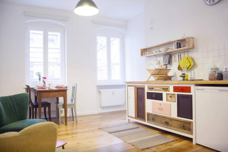Gemütliche Küche in Berliner Appartement gemeinsamwohnen