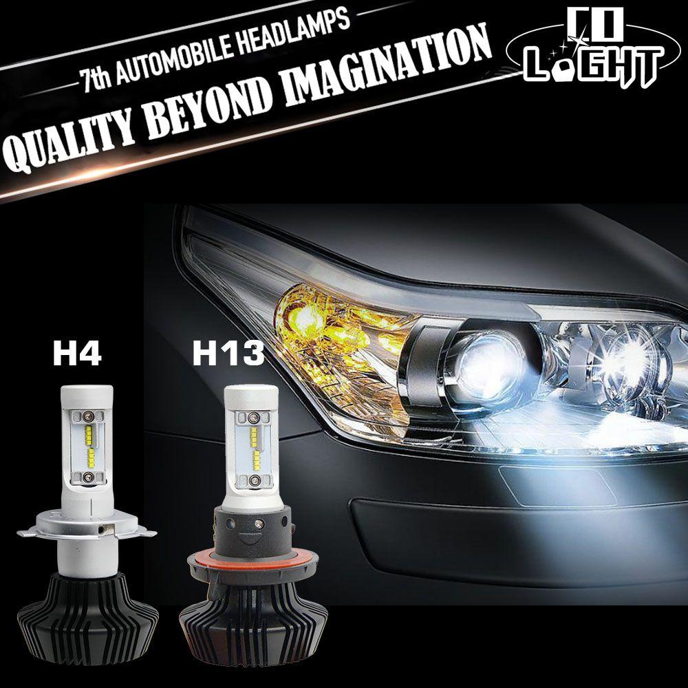 Co Light H4 Led Headlight Bulbs Kit 50w 8000lm Headlamp 6500k Super Bright White Light Auto Front Fog Lamp H13 For Un Headlight Bulbs Led Headlights Car Lights