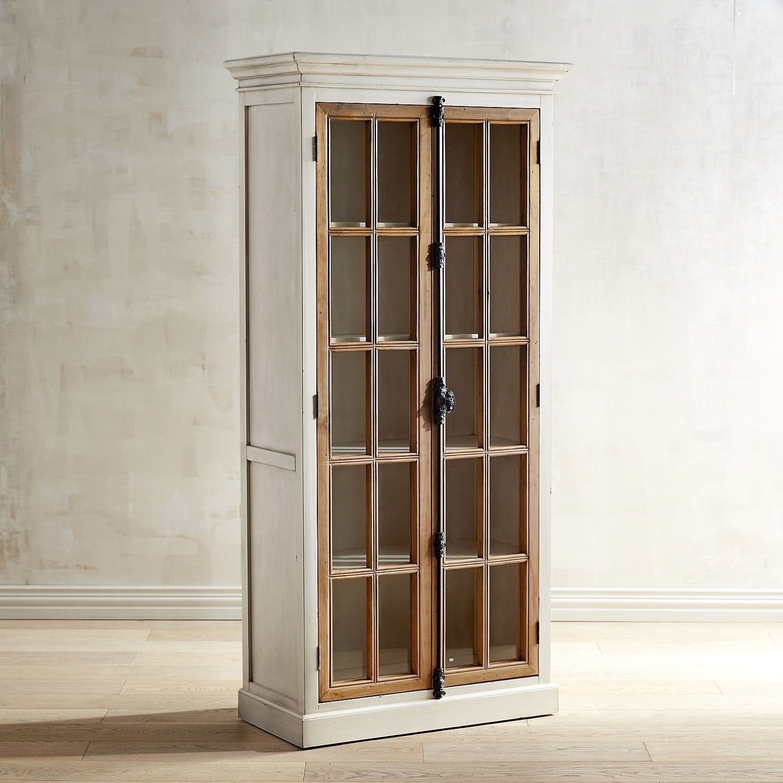 Cremone Antique White Tall Cabinet