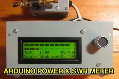 Arduino Power and SWR Meter Power and SWR Meter with dual bargraphs