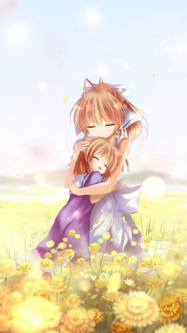 Anime Dreamy Sweet Hug Iphone Wallpapers Clannad Anime Clannad