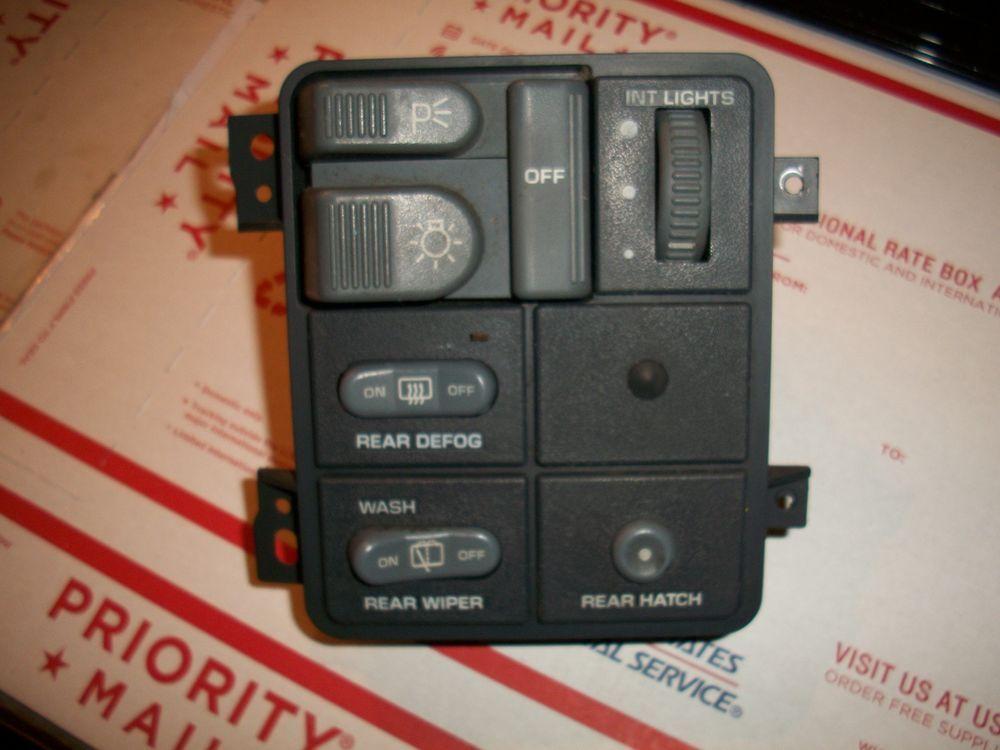 95 97 CHEVY S10 S15 BLAZER HEADLIGHT SWITCH REAR WIPER