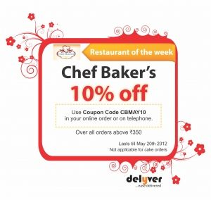 Chef bakers bangalore offers 10 off use your coupon code now chef bakers bangalore offers 10 off use your coupon code fandeluxe Images