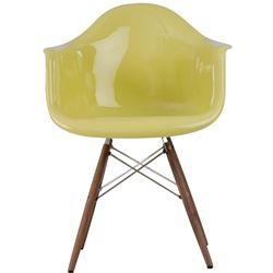 Fiberglass Chair with wooden legs