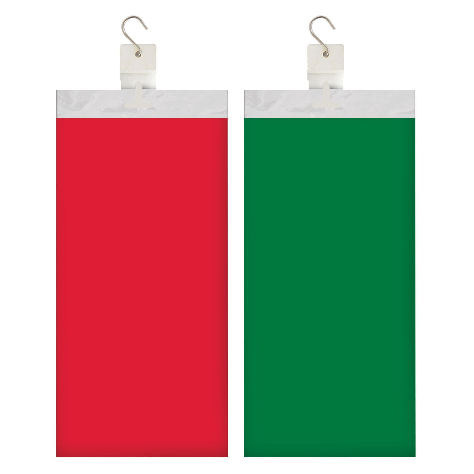 Red/Green 12 Pk Celebrations Tablecover Clip Strip Display