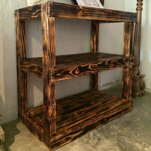 Kregjig Project Burnt Pine Wood Shelving By Byron F