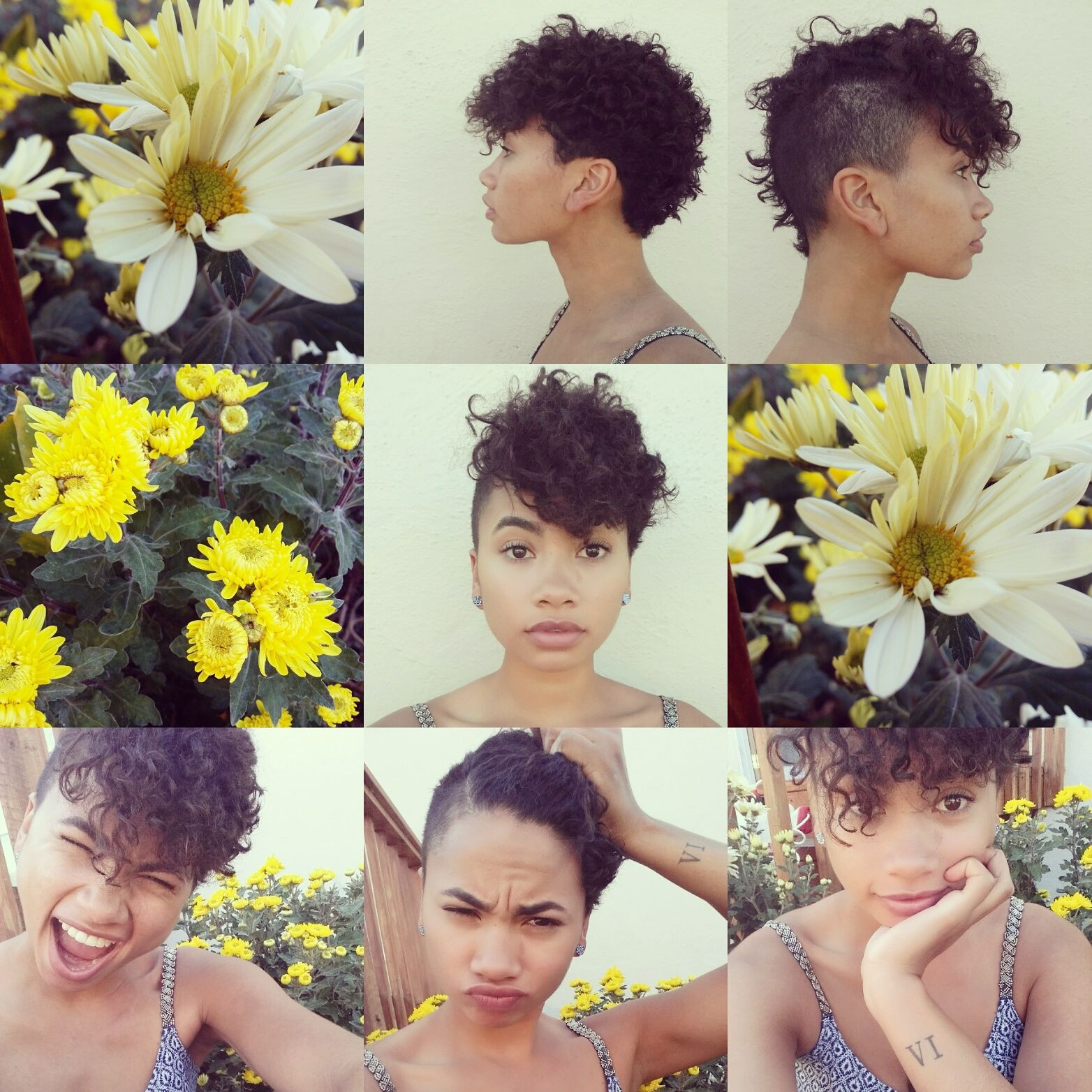 edgy pixie cut for naturally curly hair. Half shaved hair ...