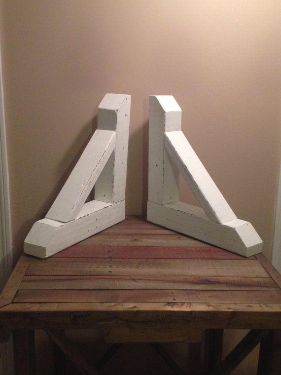 Rustic Corbels Wood Decor Reclaimed Brackets Planter Solid Look Shelf