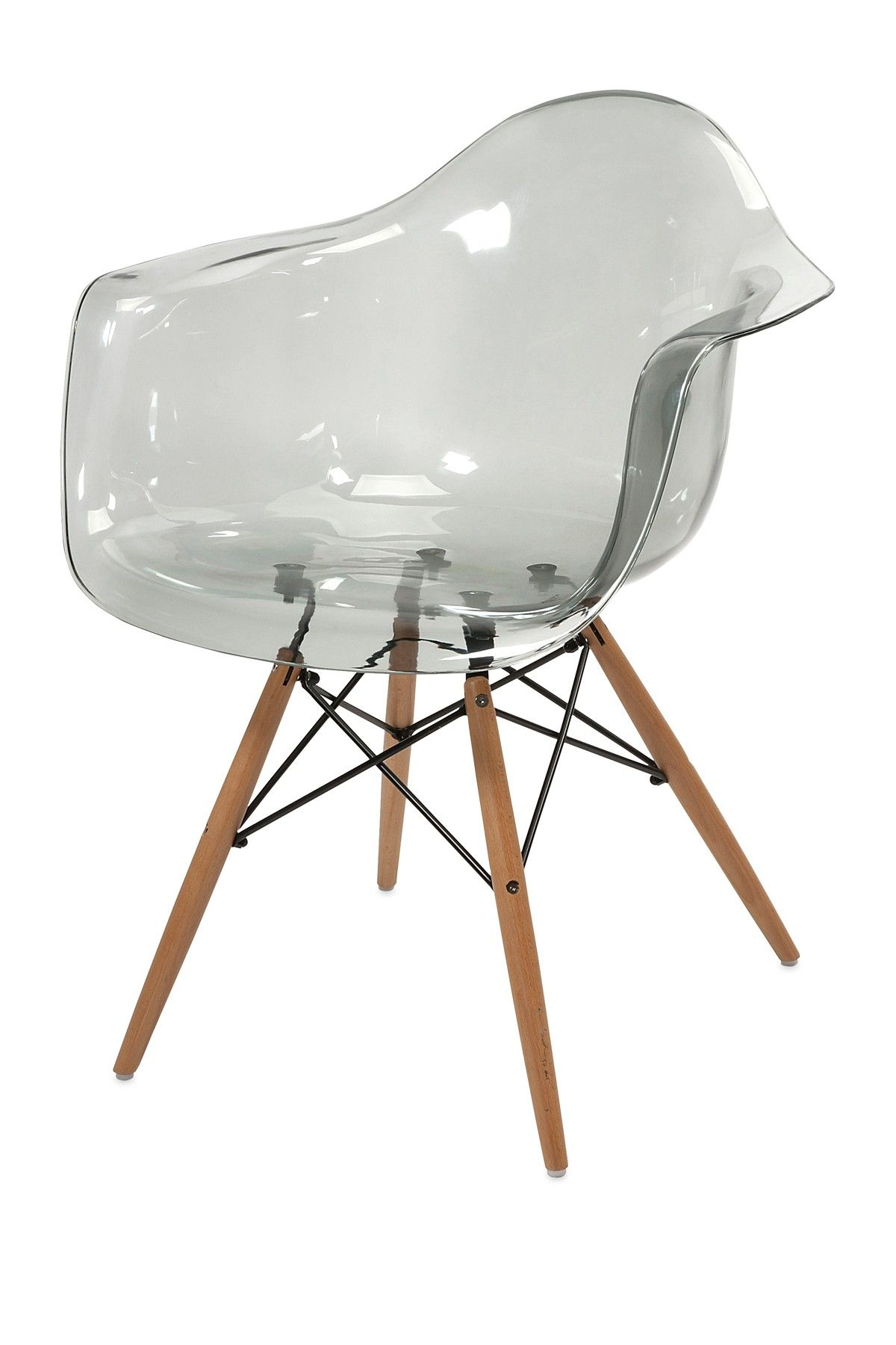 Mobilier Transparent Beckett Transparent Grey Chair On Hautelook Furnish And