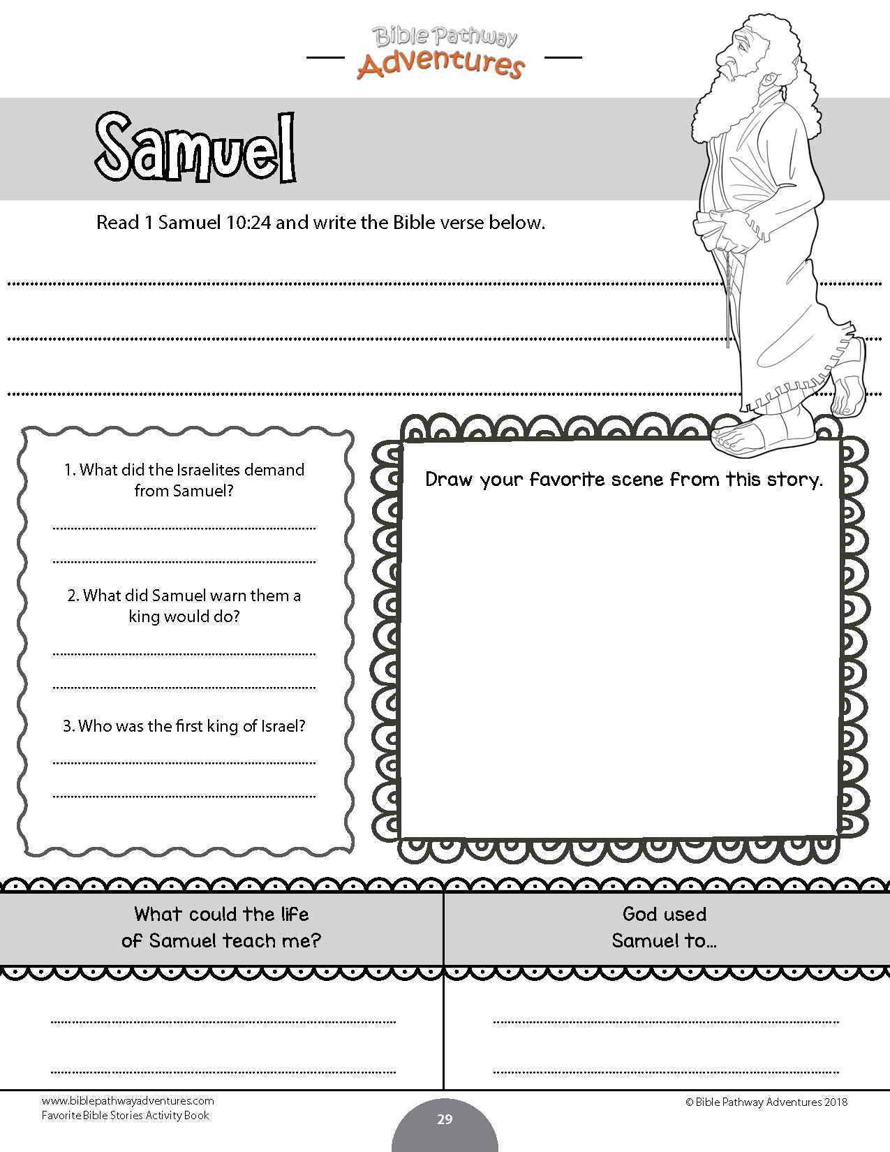 Samuel Coloring Activity For Kids