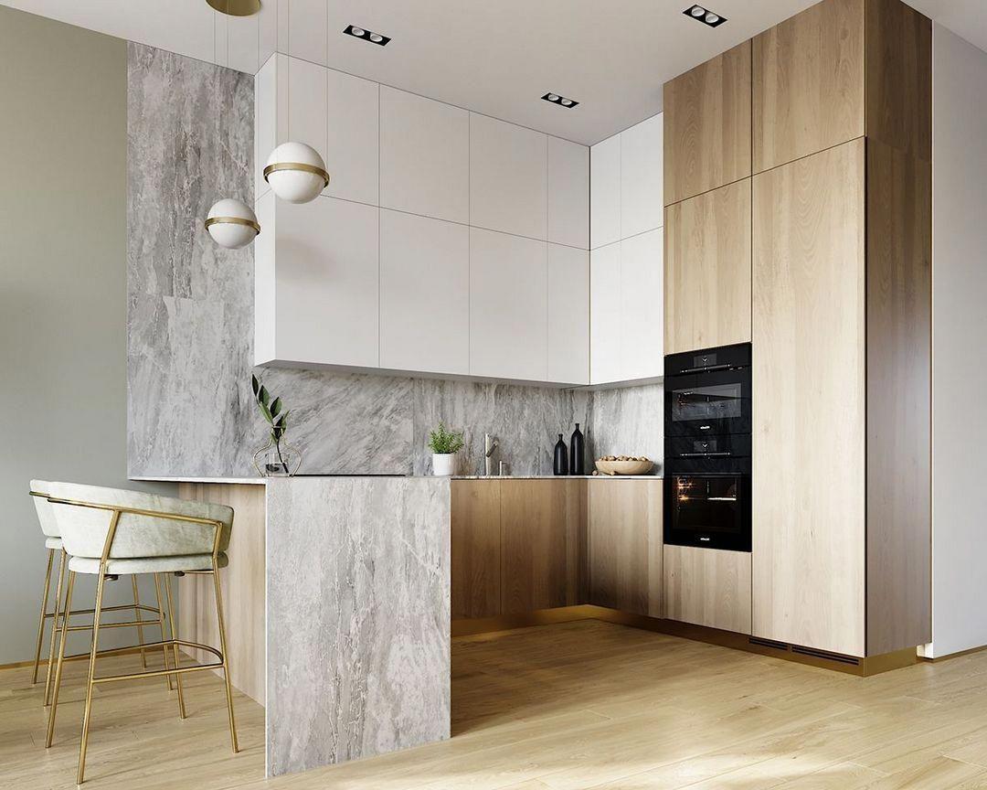 40 Best Small Modern Kitchen Design Ideas Modernkitchendesign Small Modern Kitchens Modern Kitchen Interior Design Kitchen