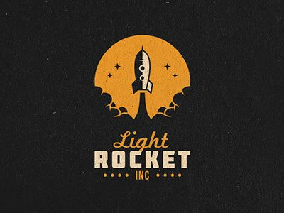 Light Rocket Inc Rockets Logo Logo Design Creative Logo Design