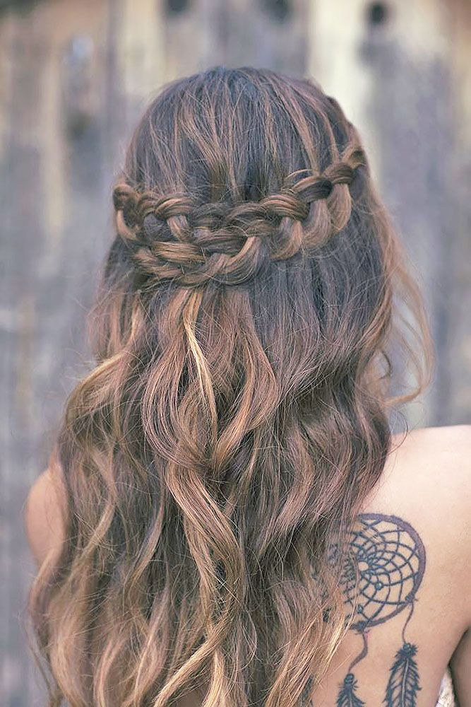 Wedding Guest Hairstyles 42 The Most Beautiful Ideas Wedding Forward Hair Styles Purple Hair Hair
