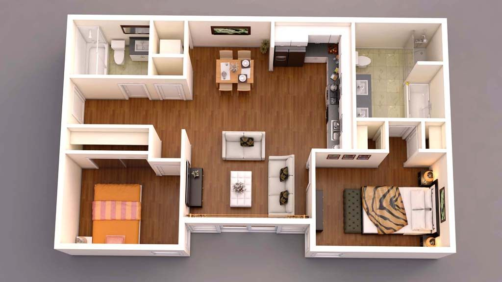 3d Floor Plan Top View 3d Home Design House Design Floor Plans