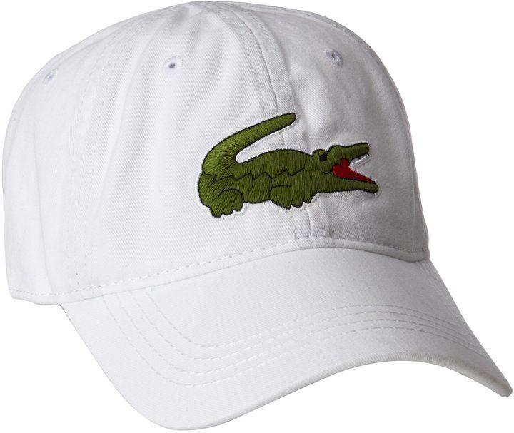 a3ebf6f2a34 Lacoste Mens Gabardine Cap with Large Crocodile
