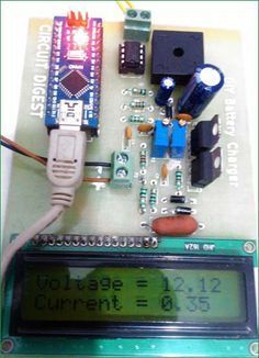 12v Battery Charger PCB with Mounted Components arduino
