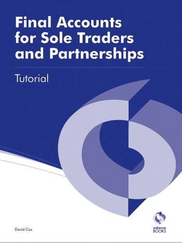 Final Accounts for Sole Traders and Partnerships Tutorial AAT ...