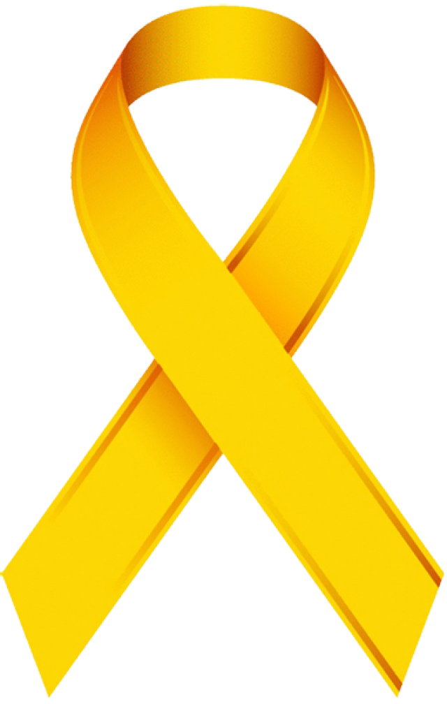 Clip Art Of A Childhood Cancer Awareness Ribbon Child Life