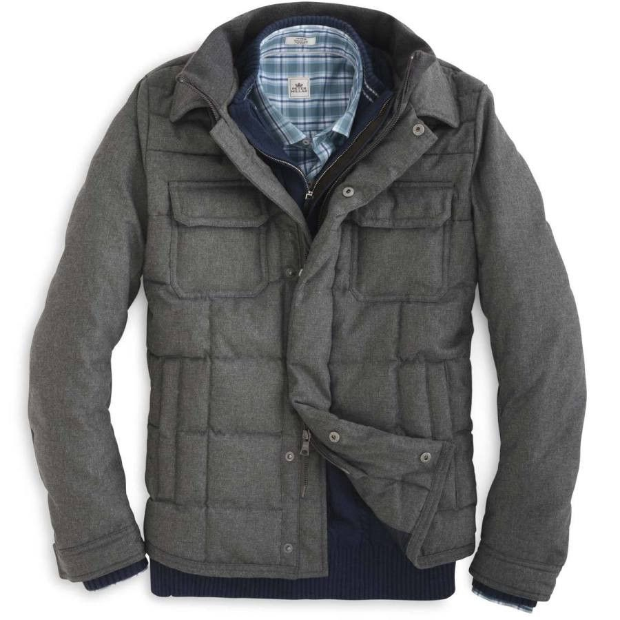 Flannel jacket with fur inside  Peter Millar  Kent Quilted Flannel Jacket  Products  Pinterest