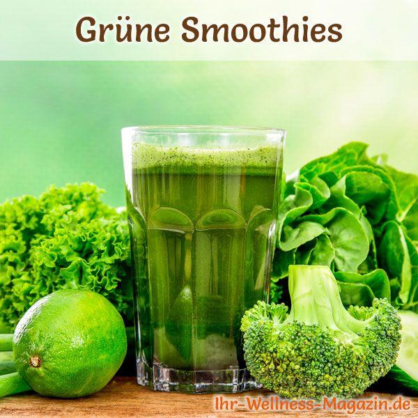 Abnehmen mit natürlichen grünen Smoothies