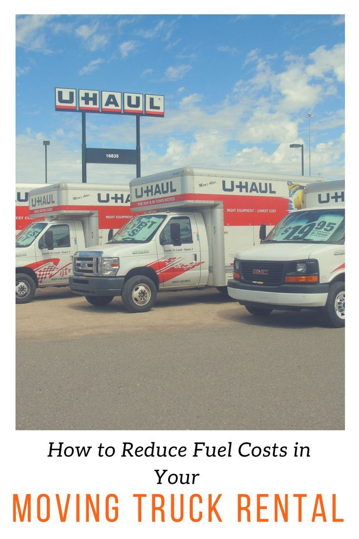 Uhaul Rental Quote Adorable How To Reduce Fuel Costs In Your Moving Truck Rental  Fuel Cost And