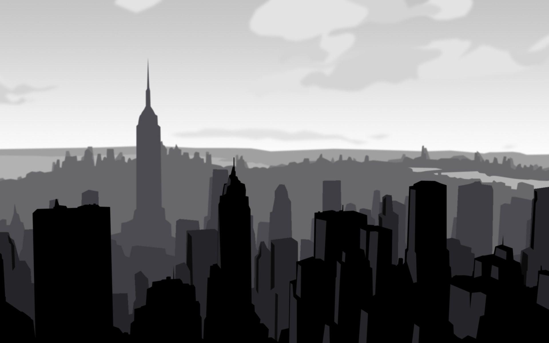 New York City Skyline Hd Wallpaper Vector Desktop Wallpaper City Skyline Skyline Cityscape