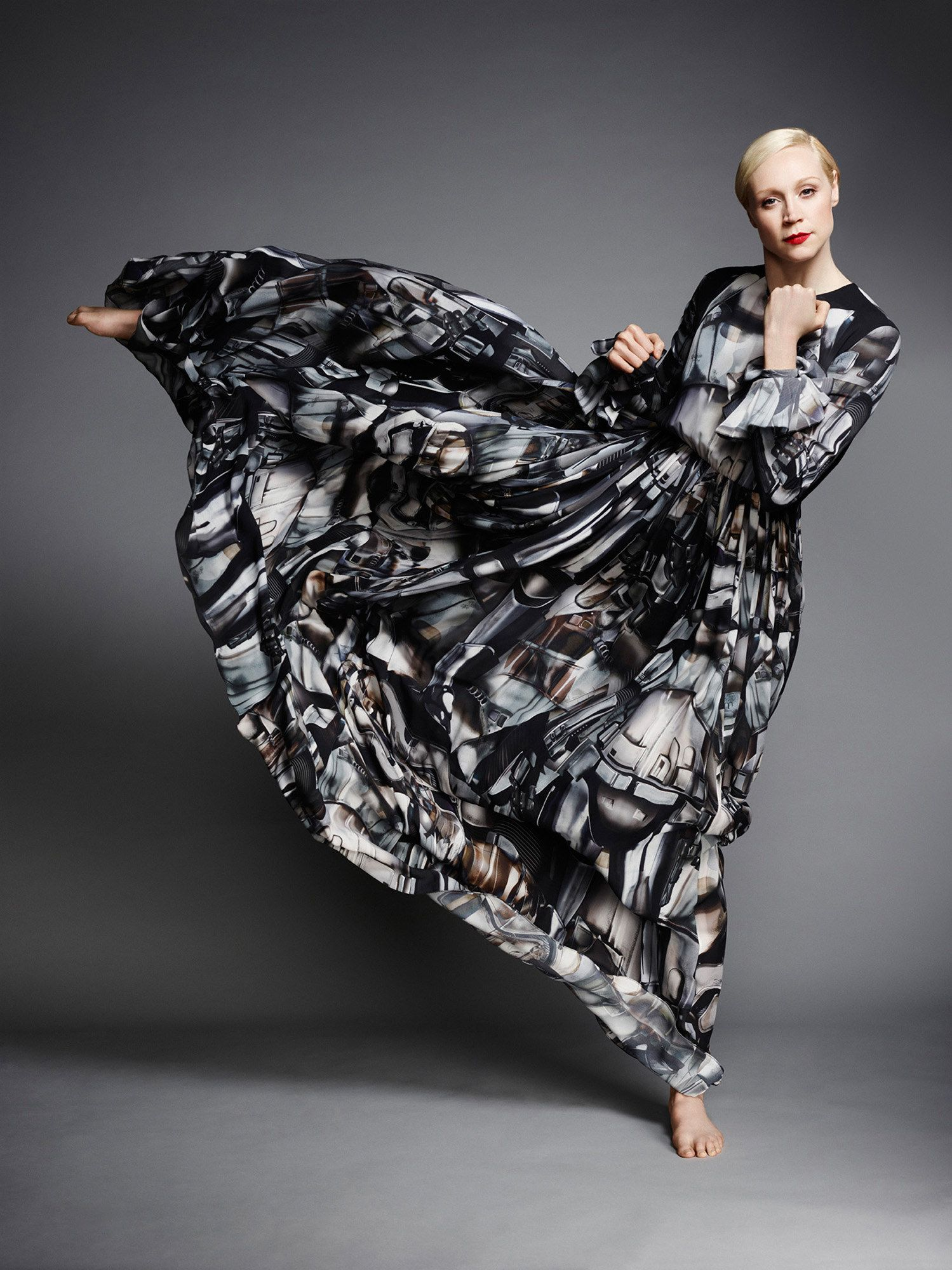 Exclusive Gwendoline Christies Captain Phasma Inspired Gown The