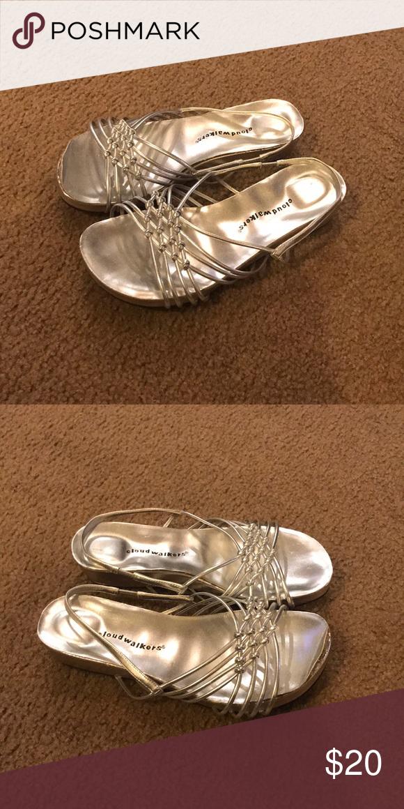 Cloud walkers - silver sandals size 11