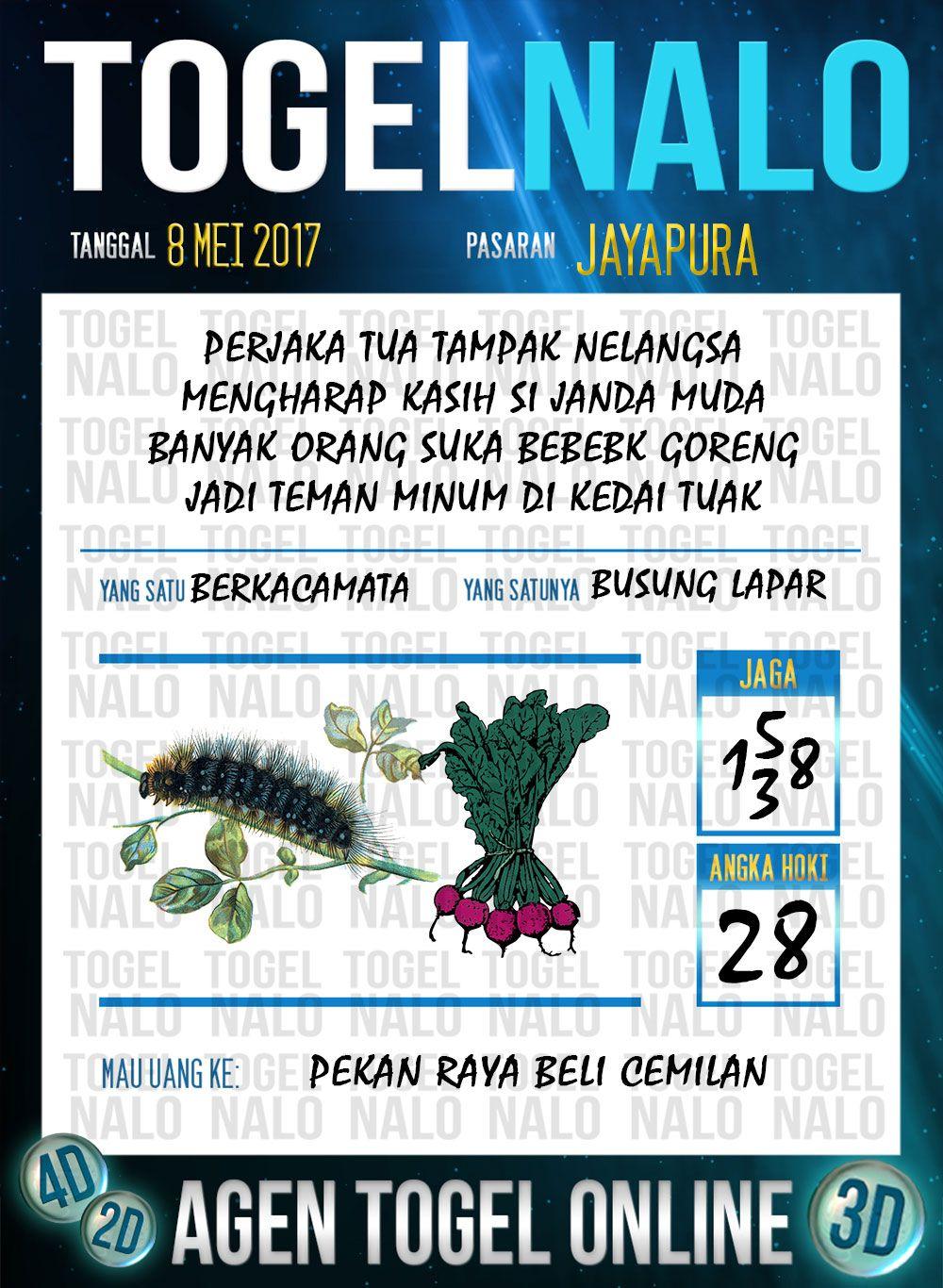 Taysen 5d Togel Wap Online Togelnalo Jayapura 8 Mei 2017 Dengan Gambar Tanggal