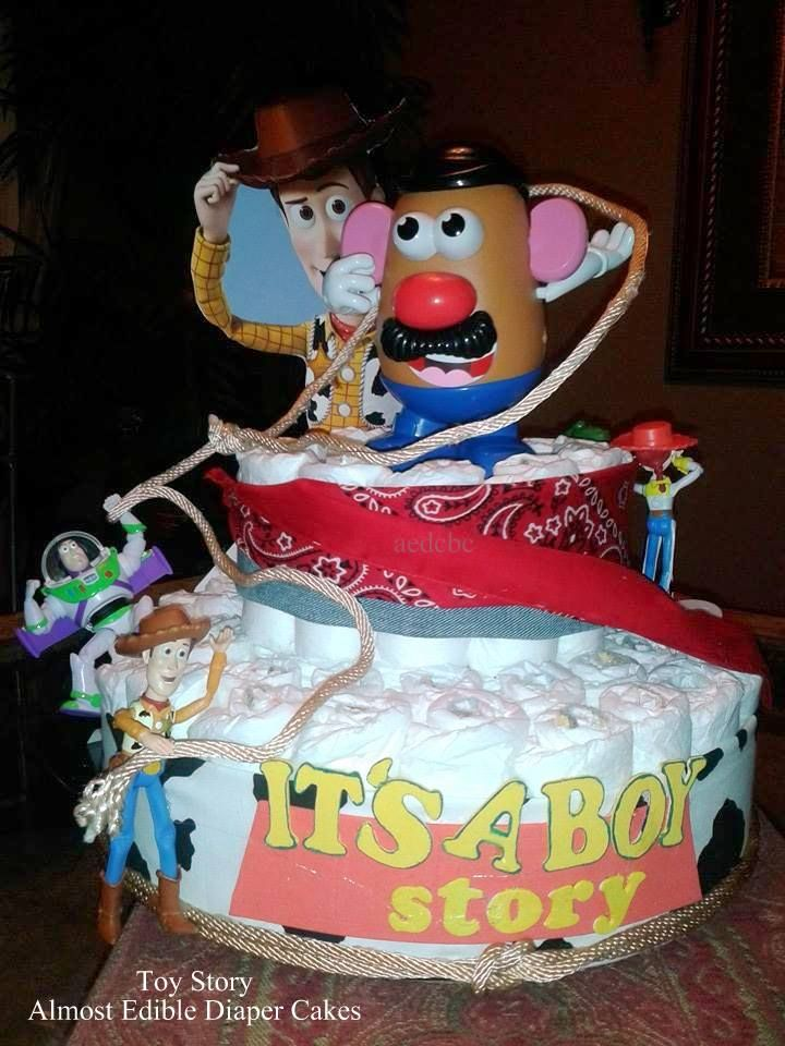 Toy Story Diaper Cake Baby Shower Centerpieces Baby