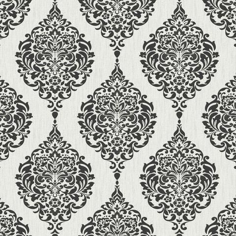 luna wallpaper in black and white from the midas collection by - Black And White Design