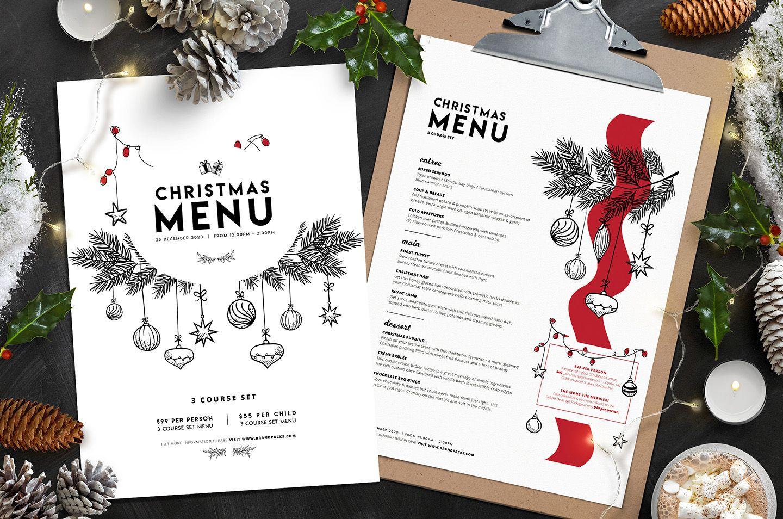 Christmas Menu Template Vol 3 Brandpacks Dizajn Menyu Menyu Na Doske Listovki Christmas menu templates free download