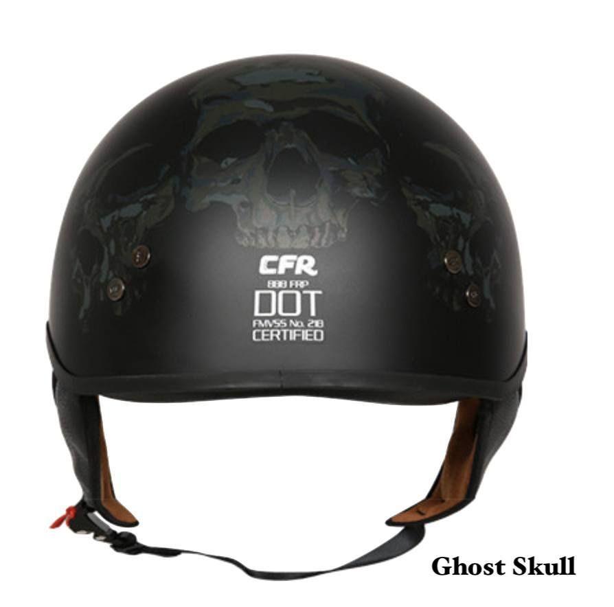 Dot Certified V 888 Vintage Half Helmet W Retractable Visor