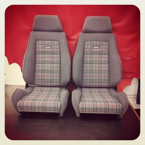recaro #seat #retrim for #vauxhal #nova (at Bernard Newbury