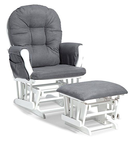 Glider Chair With Ottoman India Wishbone Chairs Overstock Amazon Com Stork Craft Custom Hoop And White Grey Baby