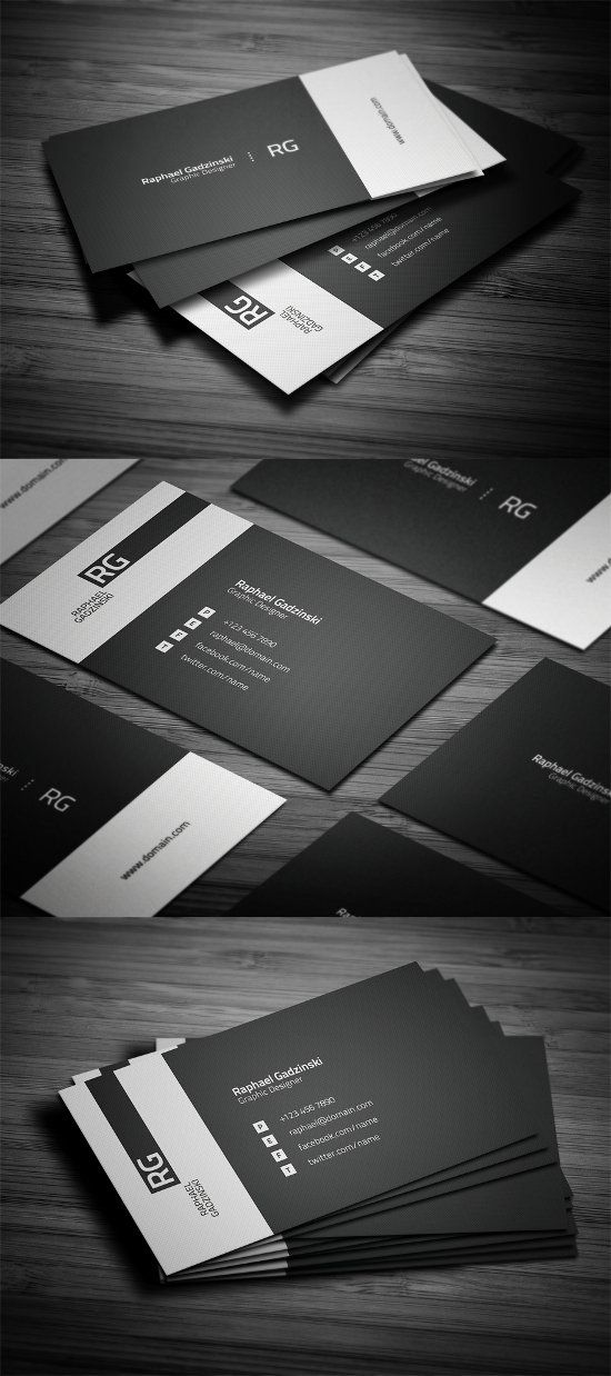 20 Creative Black and White Business Card Designs | Business cards ...