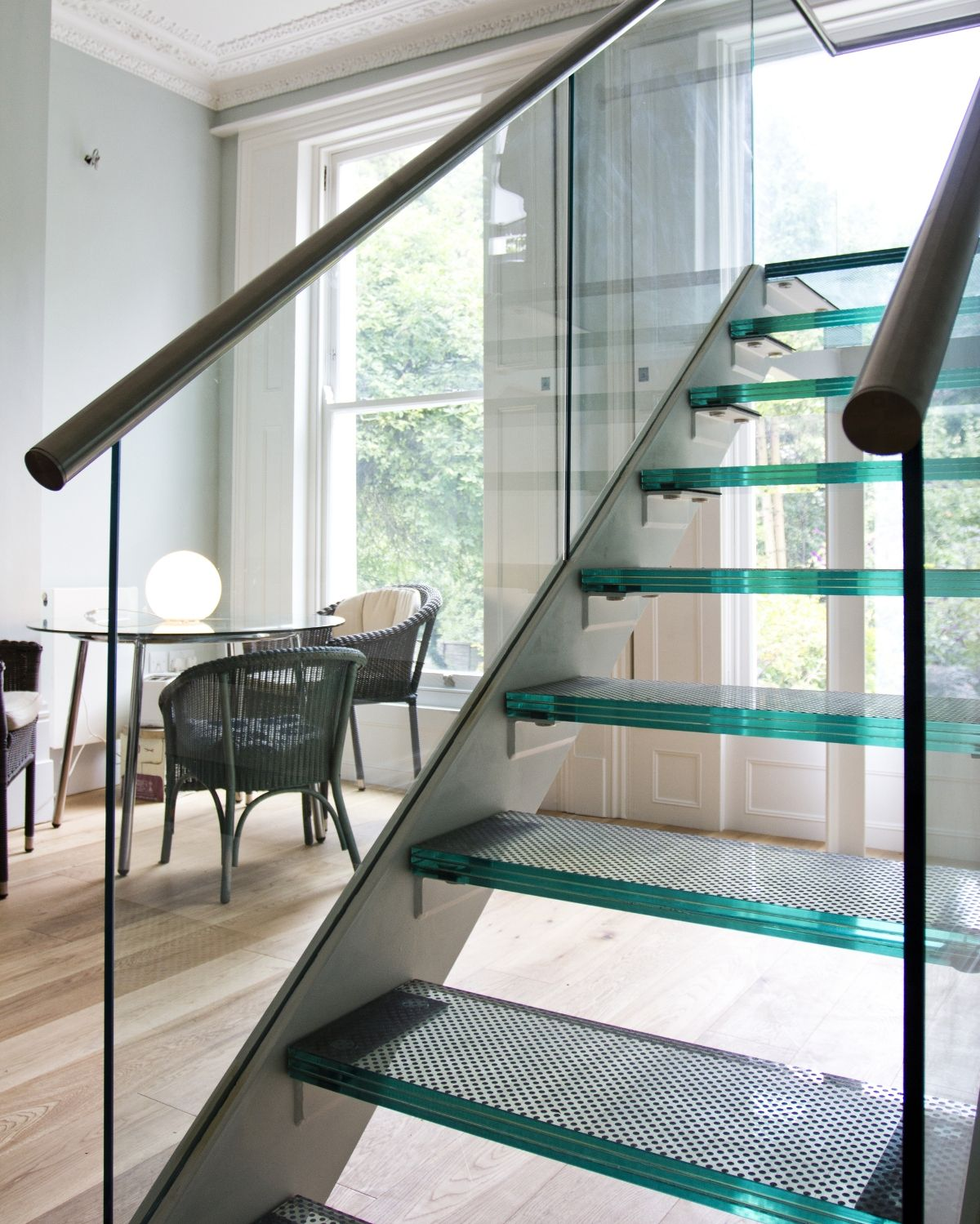 Decorating A Staircase Ideas Inspiration: Glass Staircase Window Design
